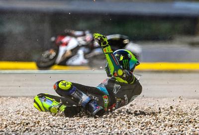 """Rossi: """"Peccato per la caduta, avevo un buon passo, vicino ai migliori"""""""