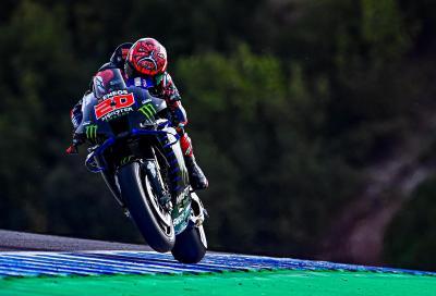Le qualifiche di Jerez vanno a Yamaha: primo Quartararo, secondo Morbidelli
