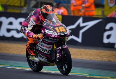 Moto3: doppietta italiana nelle qualifiche di Le Mans, pole di Migno