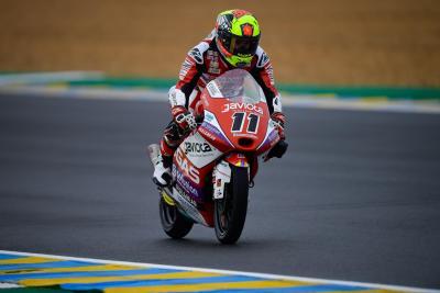 Garcia regala a GasGas la vittoria. Primo podio per Rossi