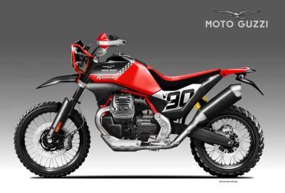 Moto Guzzi V90 Tijuana Racer, pronta al deserto