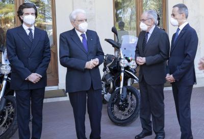 Consegnate al Presidente Mattarella due Moto Guzzi V85 TT