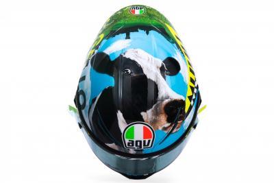 Nuovo casco per Valentino Rossi al Muuugello
