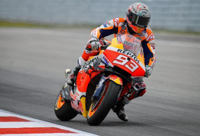 MotoGP 2021, FP1 Sachsenring: Marquez primo, Rossi in fondo alla classifica