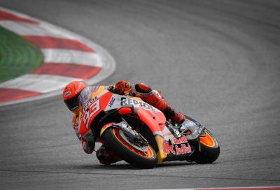 Marquez il più veloce nelle FP1 di Silverstone, ma distrugge la sua Honda