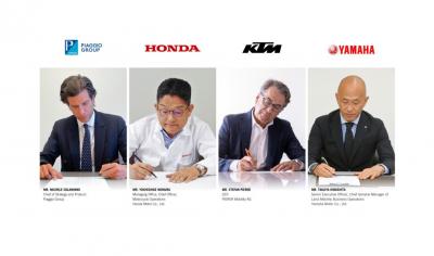 Accordo tra Yamaha, Honda, Ktm e Piaggio per le swappable batteries