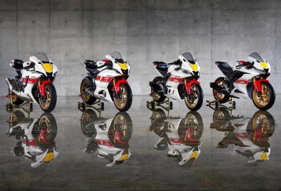 Per il 2022 Yamaha R1, R7, R3 e R125 si vestono di storia