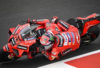 Bagnaia al top delle FP3 di Misano. Bene Viñales, Marquez fuori dalla Q2