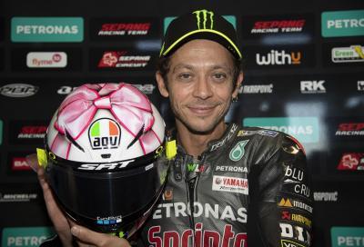 Il casco speciale di Valentino Rossi a Misano