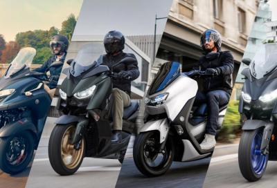 Nuovi colori 2022 per gli scooter Yamaha