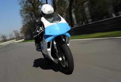 Special Cagiva Mito 350 Triemès: telaio Mito con motore Yamaha RD350