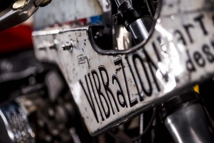 Dettaglio della special 110 su base Harley-Davidson by Vibrazioni Art Design (foto Callo Albanese)