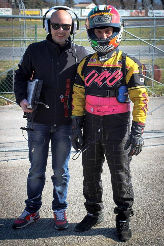 Andrea Saccucci (responsabile tecnico di Officine in progress) e Daniele Parravano (pilota del Team Parravano corse)