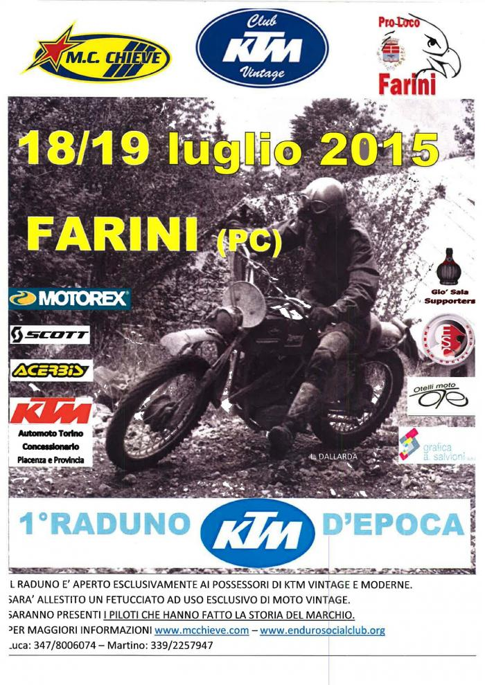 Raduno a Farini (PC) per KTM d'epoca (e non solo)