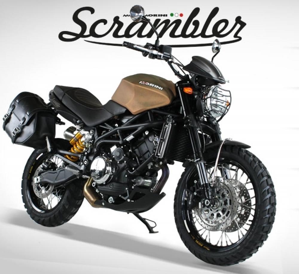 Moto Morini Scrambler 1200 equipaggiata per i viaggi