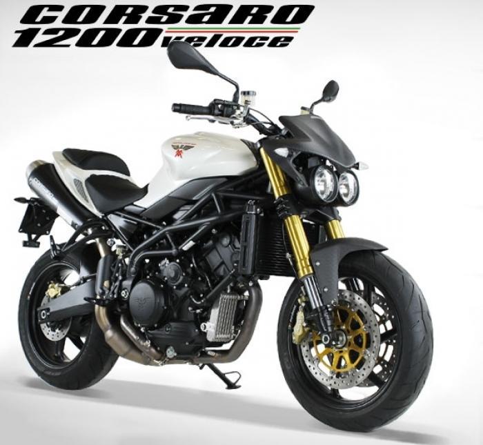 Moto Morini Corsaro 1200 Veloce in bianco
