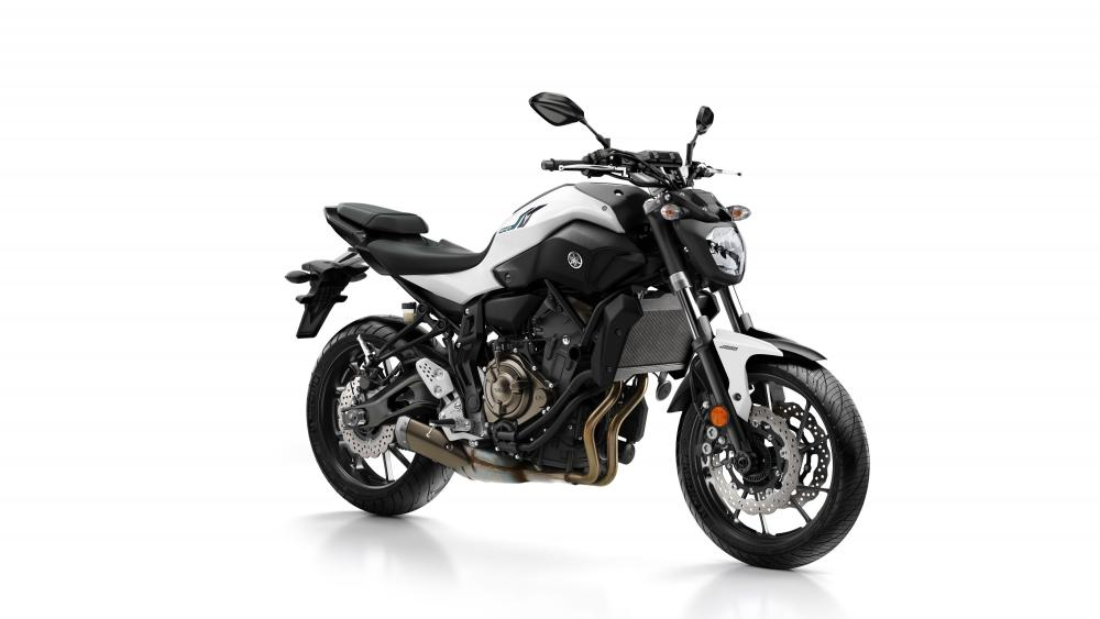 Yamaha MT-07 2017 nelle livrea Powder White