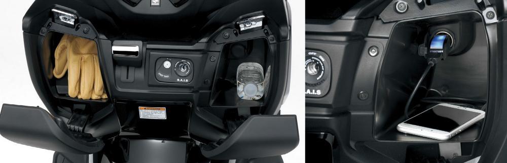 I vani nel retroscudo del Suzuki Burgman 400 2017