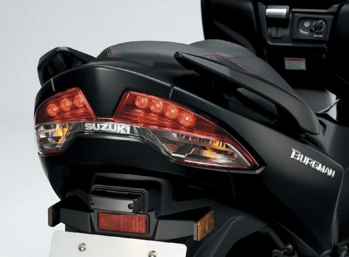 Faro posteriore del Suzuki Burgman 400 2017