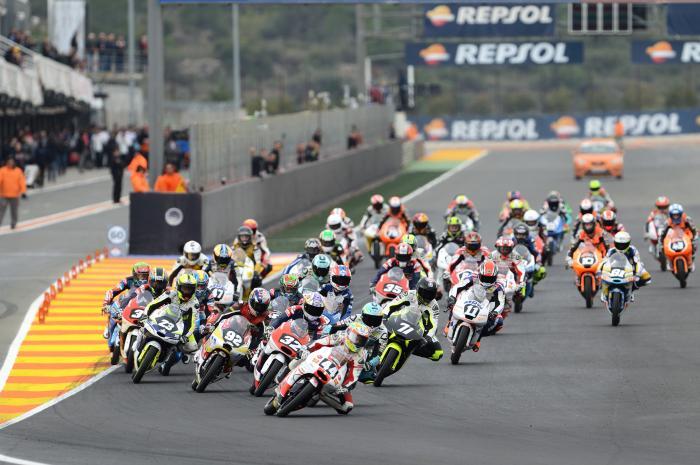 CEV 2016, Valencia: classe Moto3, lo start