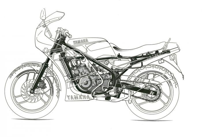 yamaha rd 350 lc  1979-1995   le foto