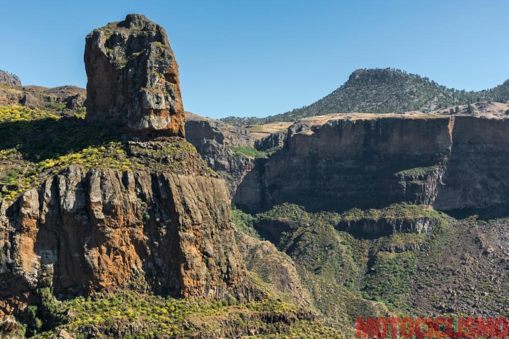 Viaggio in moto in Spagna: a Gran Canaria con la Ducati XDiavel. Rque palmes, Barranco De Siberio