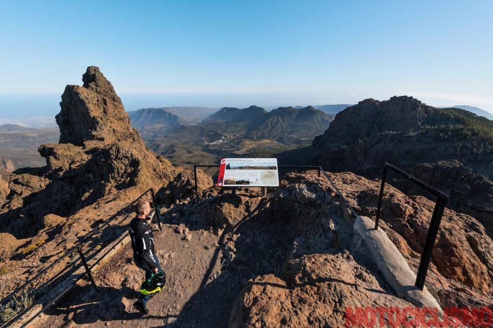Viaggio in moto in Spagna: a Gran Canaria con la Ducati XDiavel. Mirador Parque Natural del Nublo