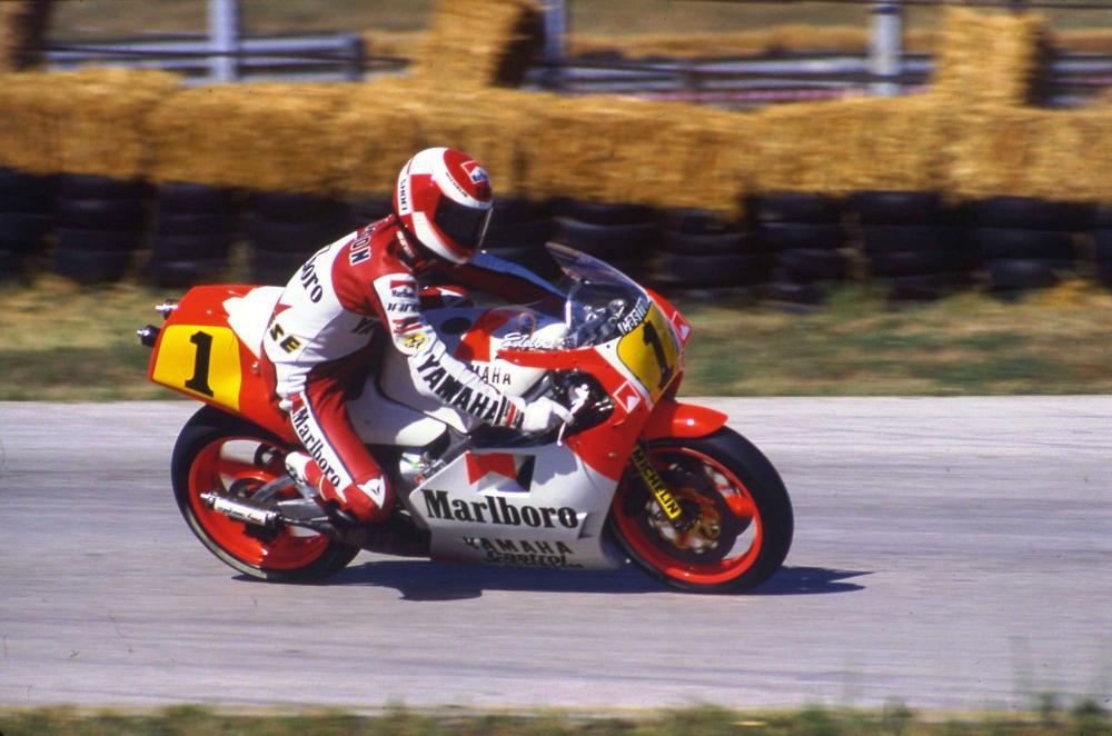 Eddie Lawson nel 1987 a Le Mans