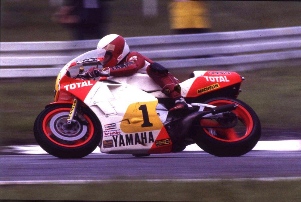 Eddie Lawson nel 1985, il suo primo anno da campione del mondo in carica.