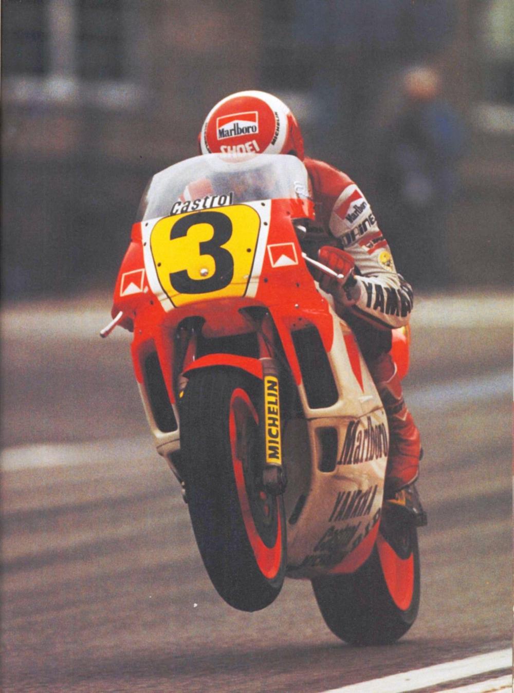 Eddie Lawson nel 1988, anno del terzo titolo mondiale