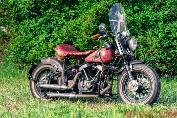 """The Bike Field 2017: la """"finta Indian"""" di Max Raimondi, terza classificata nella classe """"Best in show"""""""
