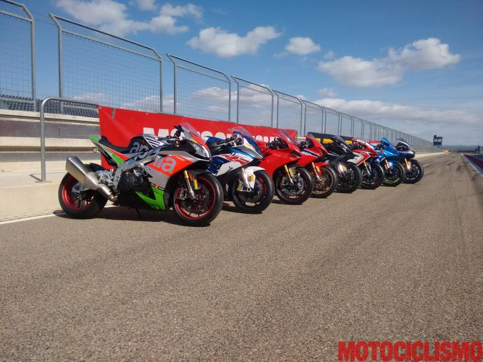 Comparativa Supersportive 2017: Aprilia RSV4 RF, BMW S 1000 RR, Ducati 1299 Panigale S, Honda CBR1000RR Fireblade SP, Kawasaki ZX-10RR, MV Agusta F4 RC, Suzuki GSX-R1000R, Yamaha YZF-R1M