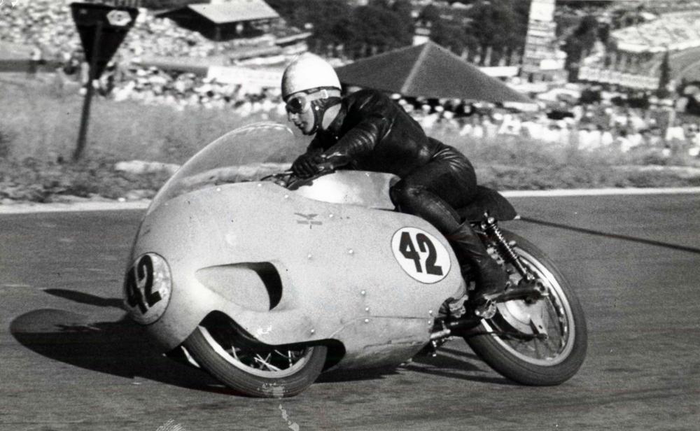 Moto Guzzi 8 cilindri GP 500 (1955-57), qui pilotata da Keith Campbell