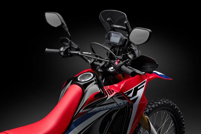 Honda CRF250 Rally: la moto è rifinita con la cura che Honda riserva alla produzione stradale