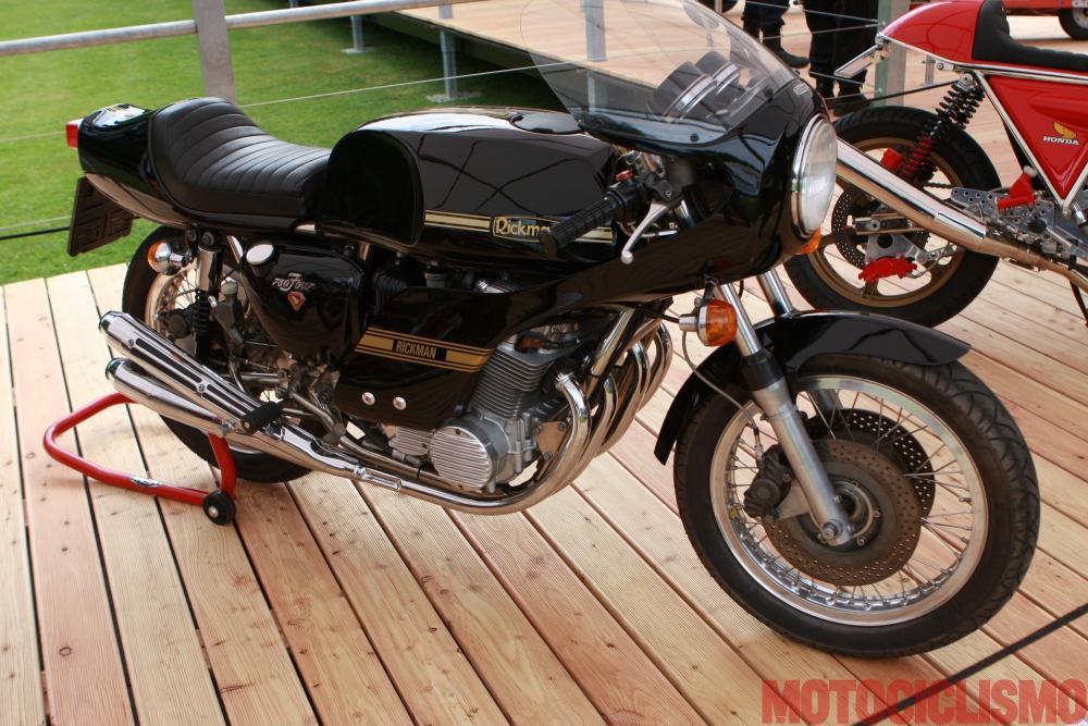 Concorso di Motociclette 2017: la Rickman Honda CR, 1975, motore 4 cilindri di 736 cc. Questa moto è arrivata seconda nella classe D