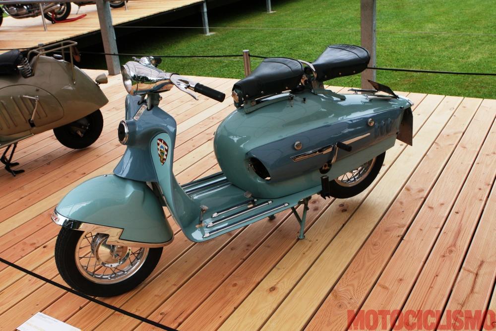 Concorso di Motociclette 2017: il Prina Orix Granlusso, 1951, motore monocilindrico di 174 cc. Questo scooter si è classificato 2° nella classe B