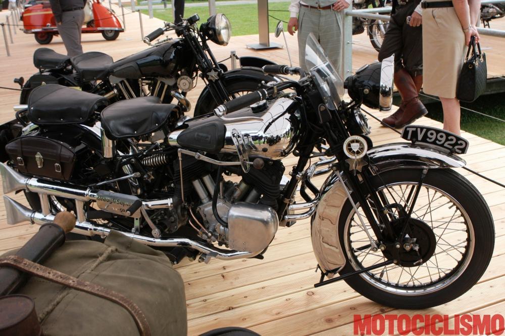 Concorso di Motociclette 2017: la Brough Superior 11-50, 1934, motore bicilindrico di 1.036 cc. Questa moto si è classificata seconda nella Classe A