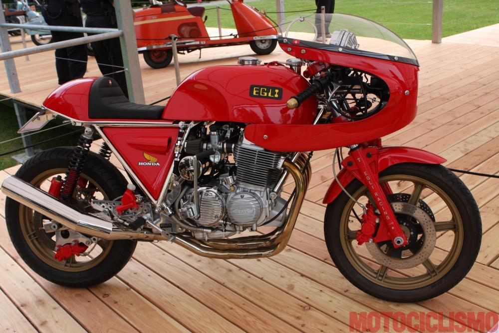 Concorso di Motociclette 2017: la Egli Honda EVH, 1973, motore 4 cilindri di 836 cc. Questa moto è arrivata terza nella classe D