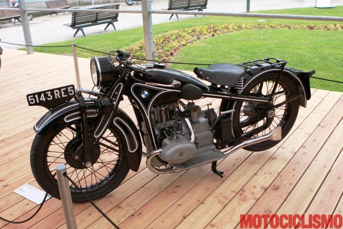 Concorso di Motociclette 2017: la BMW R 16, 1931, motore bicilindrico di 736 c. Questa moto si è classificata terza nella Classe A