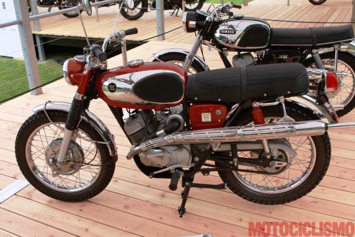Concorso di Motociclette 2017: la Bridgestone 175 Hurricane, 1967, motore bicilindrico di 174 cc. Ha colto la terza posizione nella Classe C