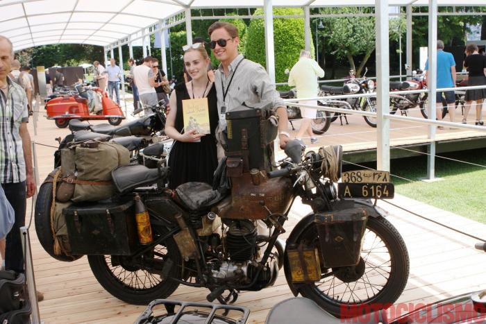 Concorso di Motociclette 2017: la moto vincitrice come Best in Show, la Puch 250 Indien-Reise del 1933. Nella foto, il suo proprietario, il bolzanino Peter Reisch