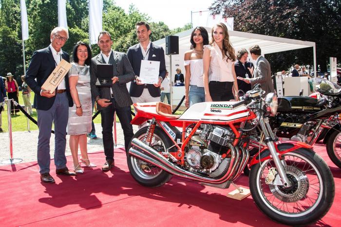 Concorso di Motociclette 2017: premiazione della vincitrice della Classe D, la Bimota HB1 del 1975