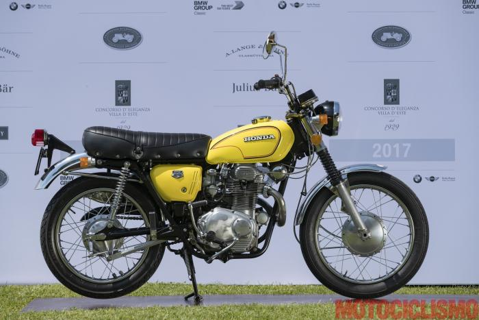 Concorso di Motociclette 2017: la Honda CL 350, 1972, motore bicilindrico di 350 cc. Ha colto la seconda posizione nella Classe C