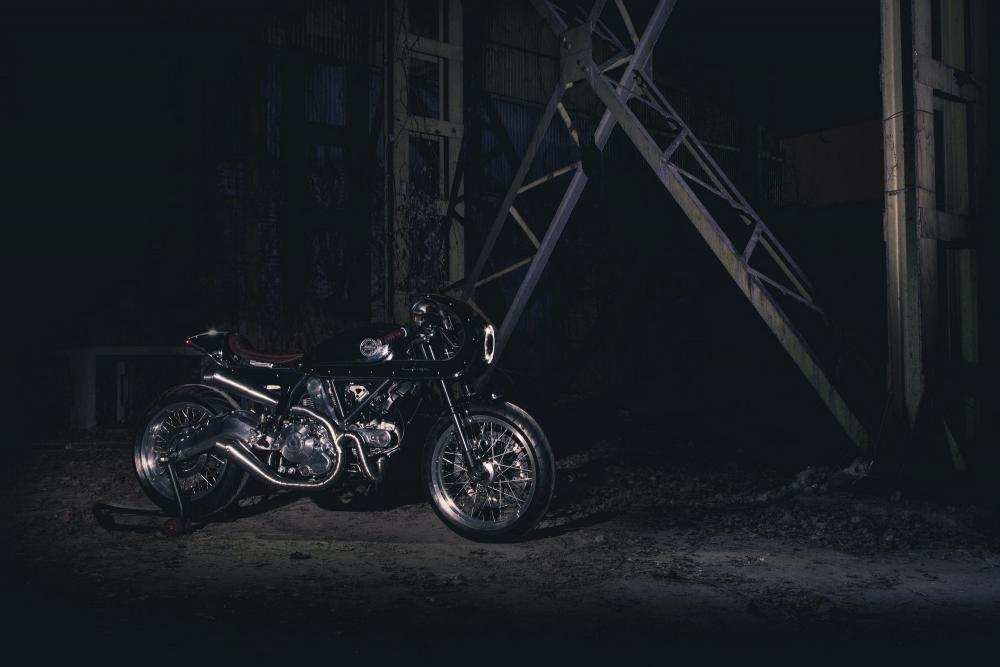 "Ducati Scrambler special ""Essenza"" by South Garage"