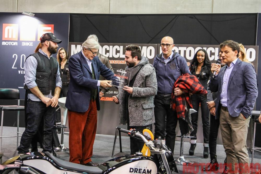 """Ducati Scrambler special """"Essenza"""" by South Garage ha vinto il nostro Concorso di Eleganza al MBE 2017 come """"best in show"""", eletta da una giuria composta dal critico d'arte Vittorio Sgarbi e dai designer Nori Harada (Vice President Design Zagato) e Rodolfo Frascoli"""