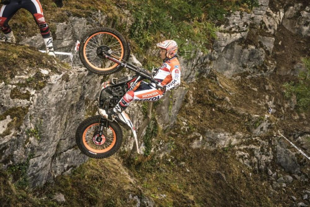 Mondiale Trial Outdoor 2017, Lourdes, Fujinami in azione