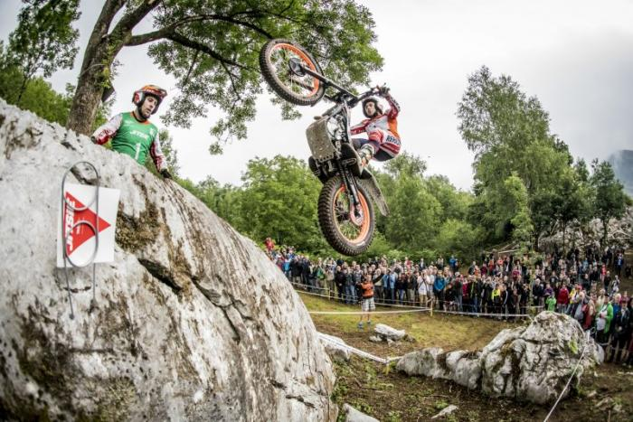Mondiale Trial Outdoor 2017, Lourdes, Bou in volo