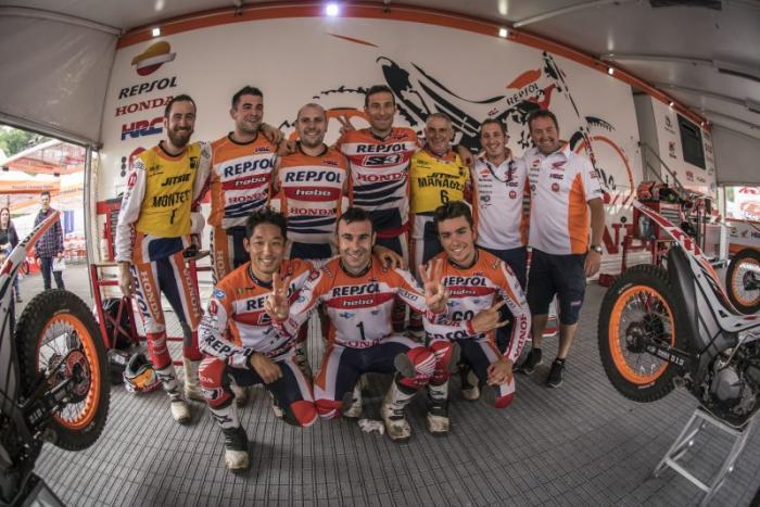 Mondiale Trial Outdoor 2017, Lourdes, il team Honda-Repsol
