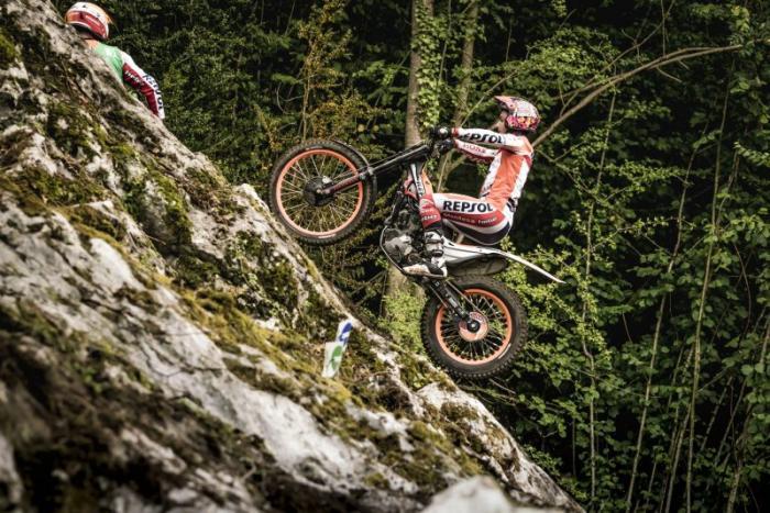 Mondiale Trial Outdoor 2017, Lourdes, Bou in azione