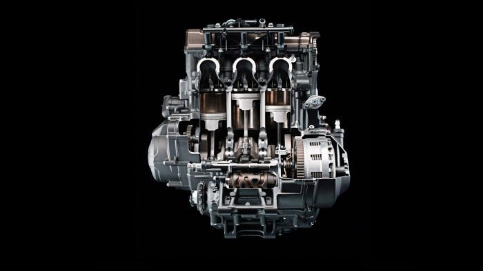 Il motore della Yamaha Tracer 900 GT